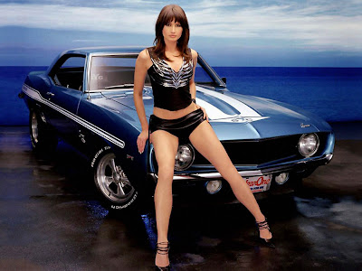 Ford Mustang & Car Babe Wallpaper