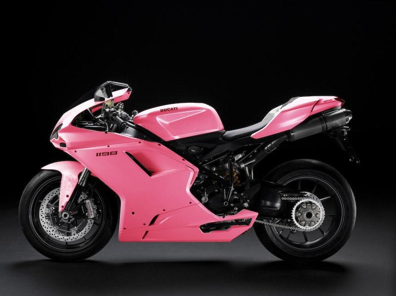 2009 Ducati 1198 Pink Color