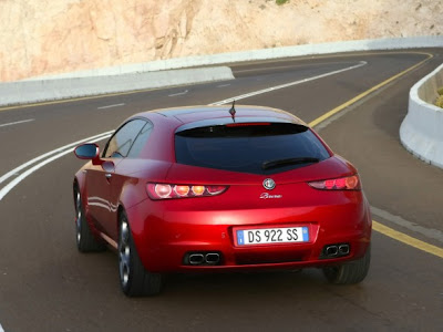 2009 Alfa Romeo Brera Rear View