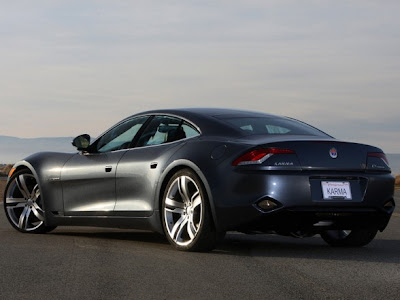 2010 Fisker Karma Rear Angle View