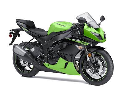 2010 Kawasaki Ninja ZX-6R Green