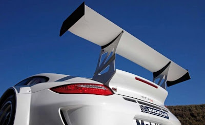 2010 Porsche 911 GT3 R Rear Wing View