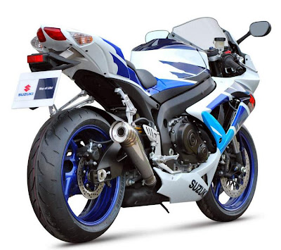 2010 Suzuki GSX-R 750 Limited Edition Rear Angle View