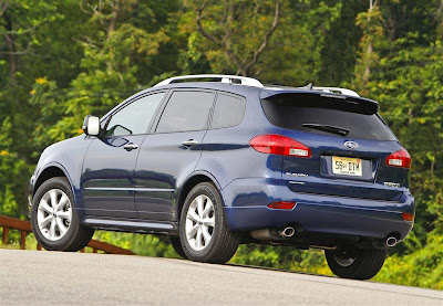 2010 Subaru Tribeca Rear Side View