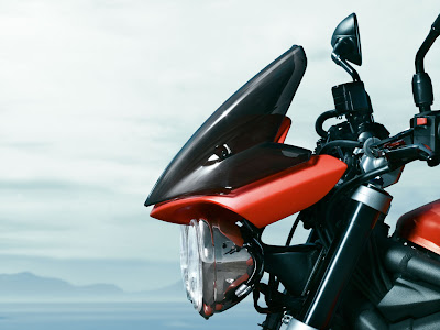 2010 Triumph Street Triple R Headlight Side View