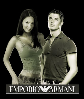 Cristiano Ronaldo and Megan Fox Poster
