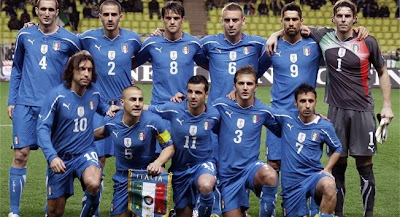 World Cup 2010 Italy Soccer Team Photo