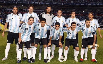 World Cup 2010 Argentina Soccer Team Image