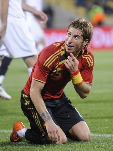 World Cup 2010 Sergio Ramos Spain Soccer Player