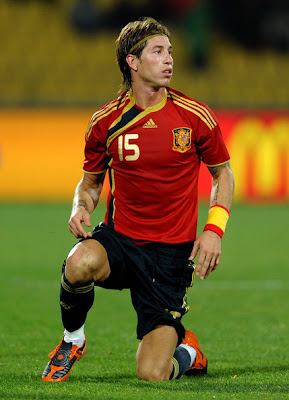 World Cup 2010 Sergio Ramos Football Photo