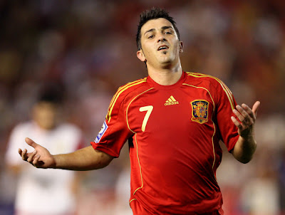 David Villa World Cup 2010 Spain Football Wallpaper