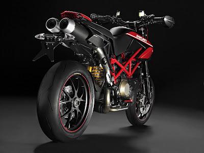 2010 Ducati Hypermotard 1100 EVO SP Rear Angle View