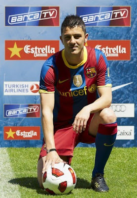 David Villa Barcelona Football Team