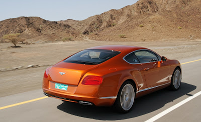 2012 Bentley Continental GT Rear Angle View