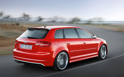 2012 Audi RS 3 Sportback Rear Angle View