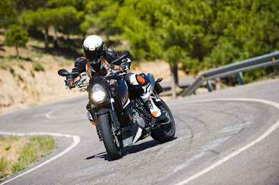 2011 KTM 990 Super Duke Action View