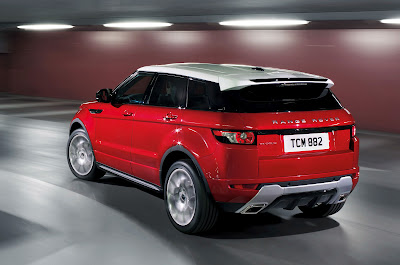 2012 Land Rover Range Rover Evoque 5-Door Rear Angle View
