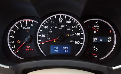 2011 Nissan Quest Instrument Cluster View
