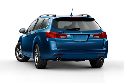 2011 Acura TSX Sport Wagon Rear Angle View