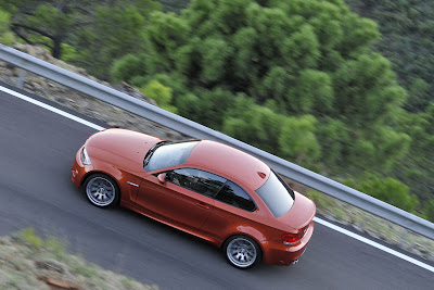 2011 BMW 1 Series M Coupe Top Side in Motion View