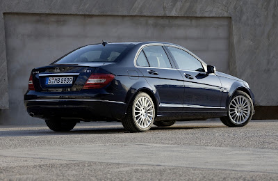 2012 Mercedes-Benz C-Class Rear Angle View