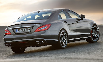 2012 Mercedes-Benz CLS63 AMG Rear Angle View