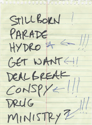 E.R. Set List May 17 2007