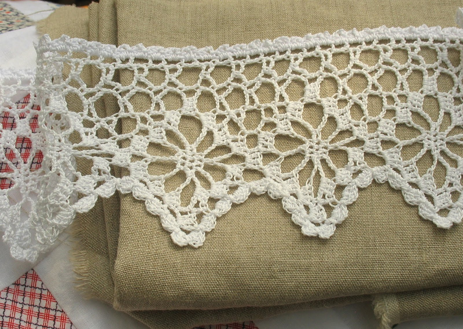 Crocheting Lace : Crocheted Lace Curtains