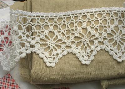 Dappled Lace Café Curtain Pattern - Knitting Patterns and