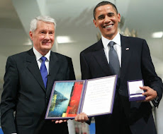 Hon.Barack Obama Received Nobel Peace Prize from Thorbjørn Jagland..!!!