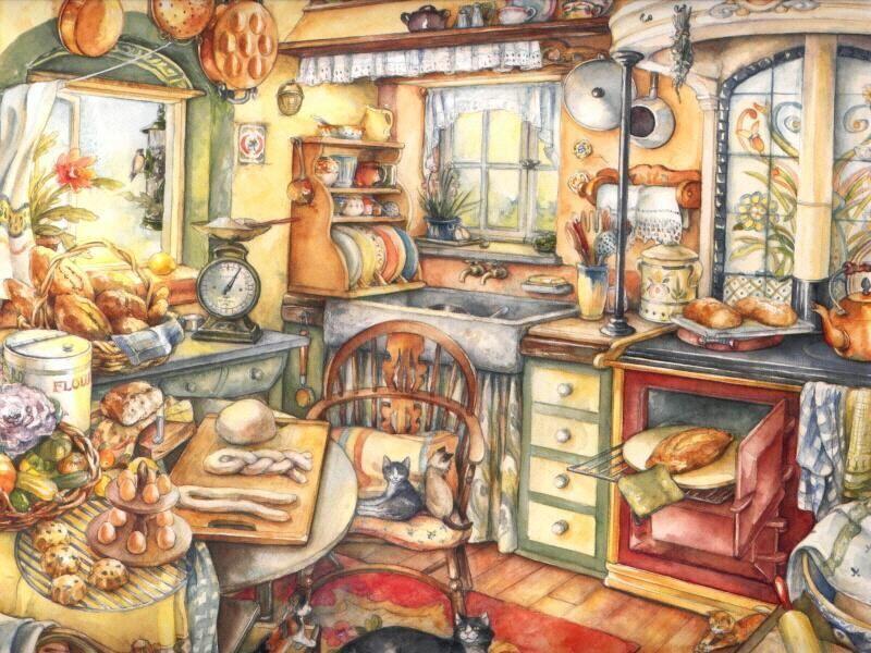 Laminas decoupage laminas de paisajes para cuadros for Cuadros para cocina vintage