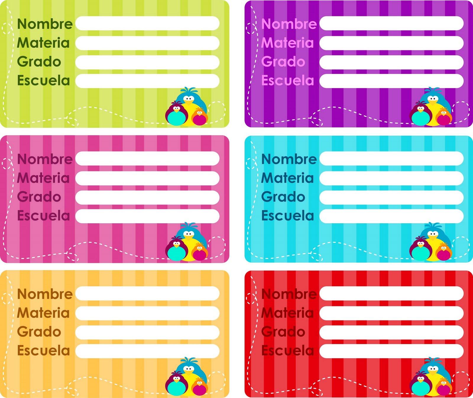 etiquetas escolares para los libros de los peques de la casa ...