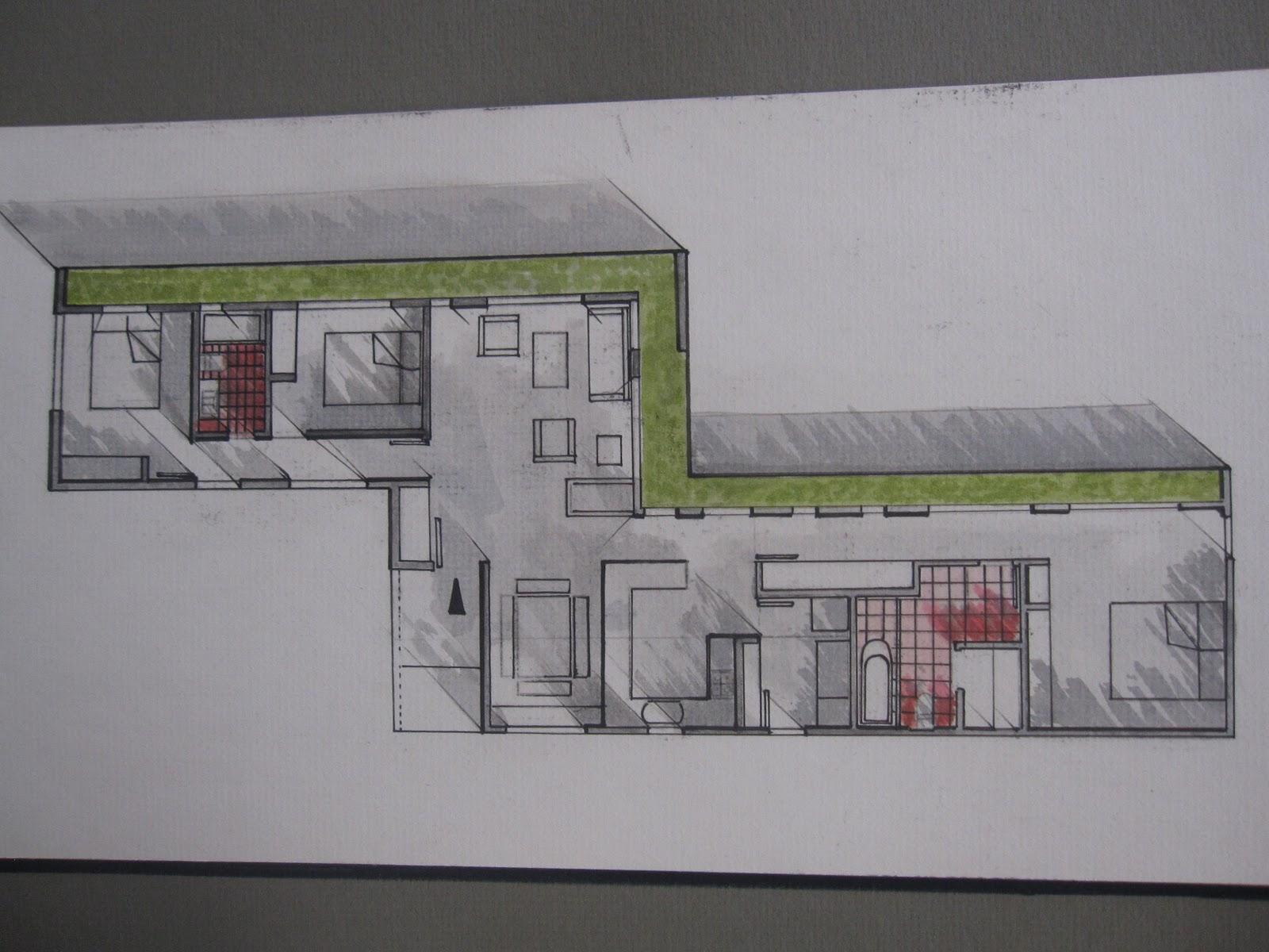 Universidad tecnol gica equinoccial trabajos de expresi n for Cortes arquitectonicos