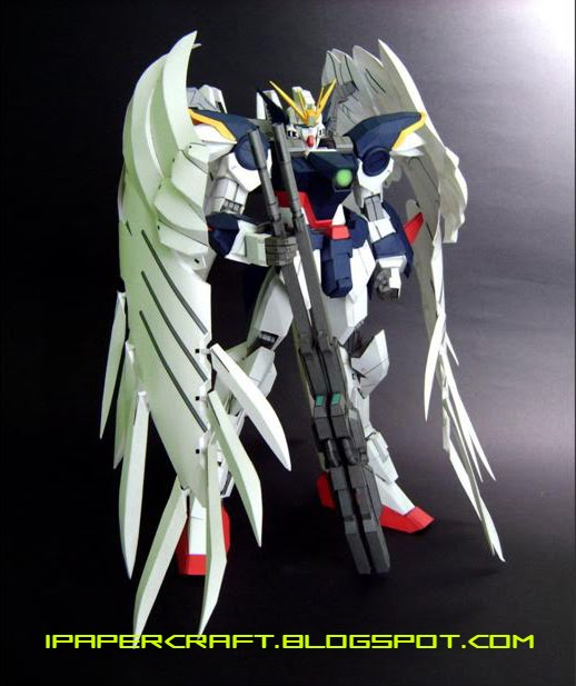 HD Gundam Wing Zero  Gundam-wing-papercraft-2