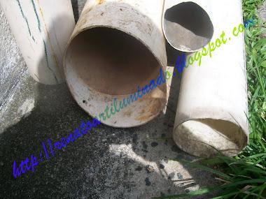 tubos de pvc antes da transformação...