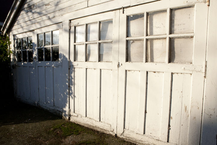 Still Life With Bicycle White Antique Garage Doors