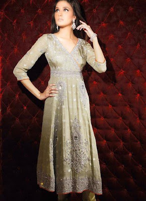 Latest Long Frock Type Churidars, Online Bridal Dresses 2011