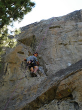 Mike climbing in Tahoe