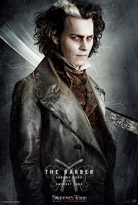 Johnny Depp As Sweeney Todd in Movie Sweeney Todd: The Demon Barber In Flett Street