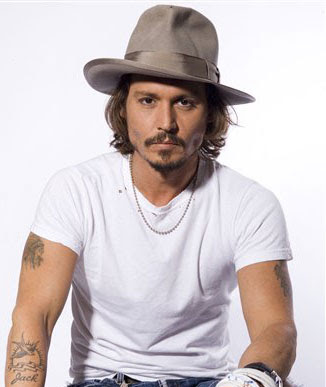 Johnny Depp playing poker at casino