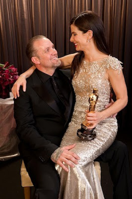 Sandra Bullock and Jesse James at the Oscars