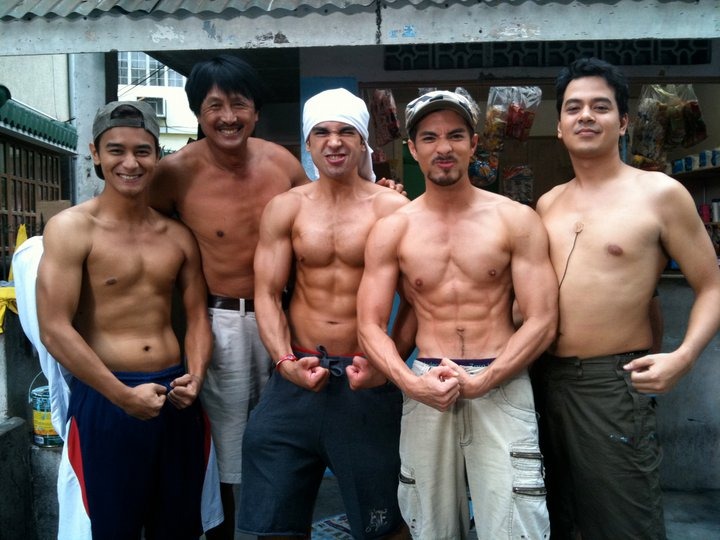 In the pictures with John Lloyd are Carlos Agassi, Joross Gamboa, JM ...