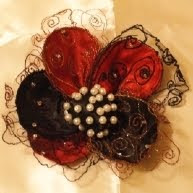 fabric flower by Wanda Roszak
