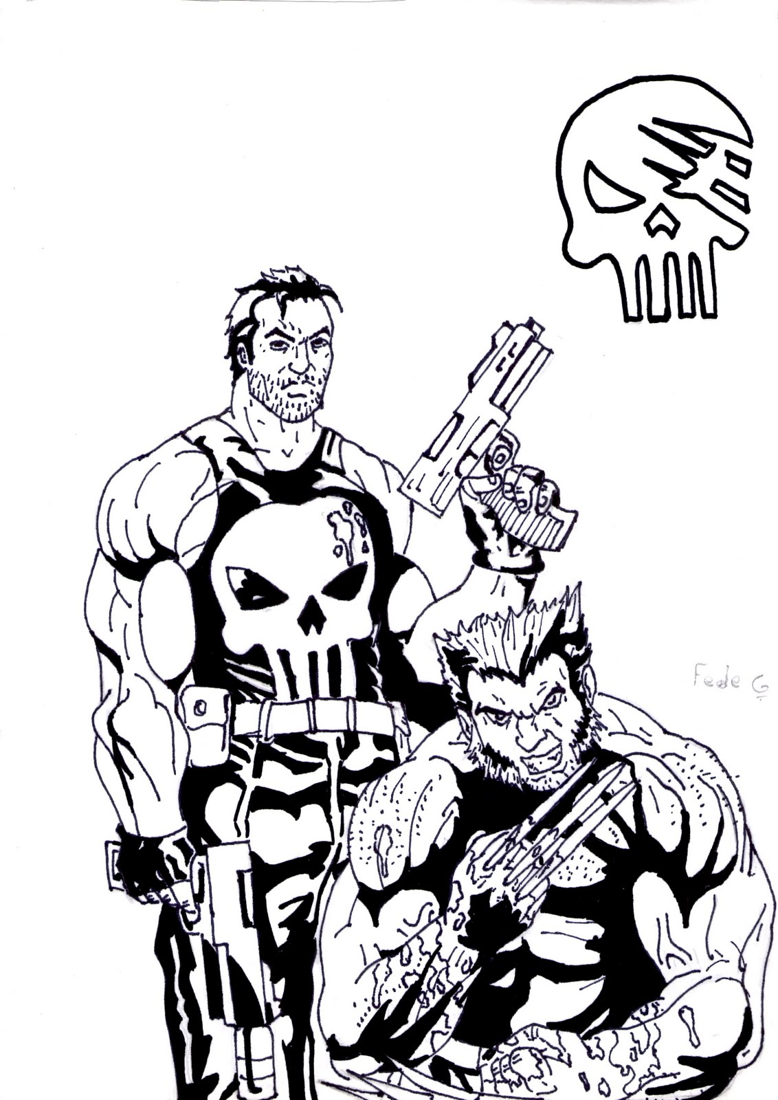 dibujando el kaos: Wolverine/Punisher