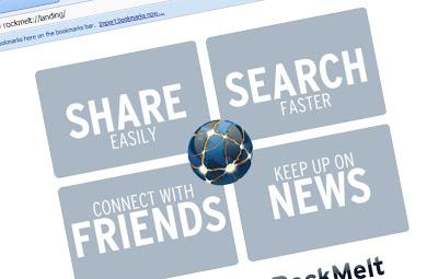 rockmelt+landing+page RockMelt All Your Favorite Social Networks In One