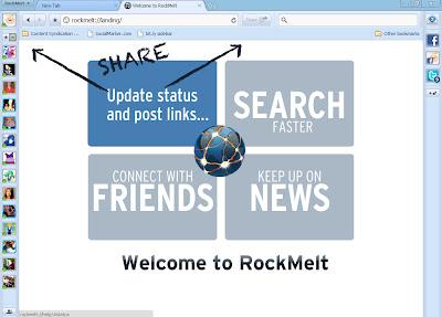 rockmelt+share+easily RockMelt All Your Favorite Social Networks In One