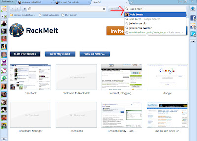 rockmelt+fb+search RockMelt All Your Favorite Social Networks In One