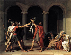 David, The Oath of the Horatii