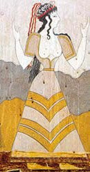 Fresco image of a woman, from Knossos