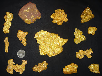 Golden ore samples produced by Eurasian Minerals